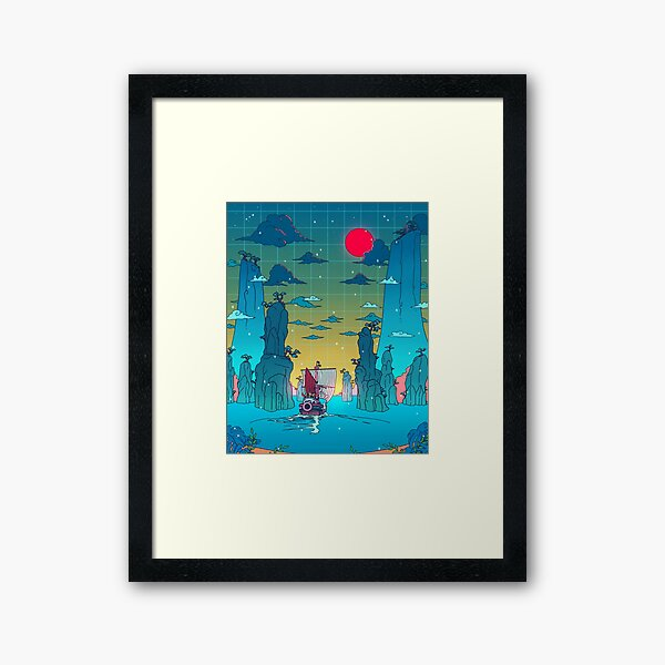 To the next adventure! Framed Art Print