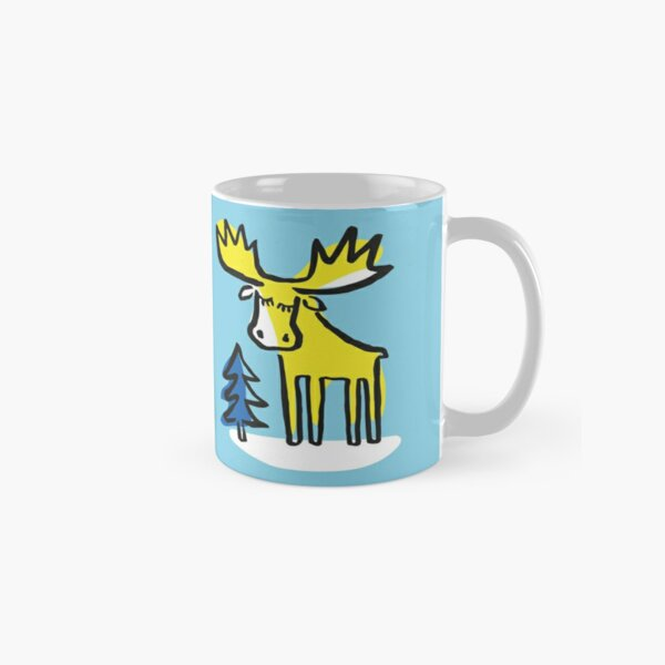 Swedish Moose in the Woods Classic Mug