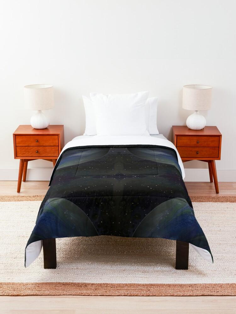 Alternate view of Terra Nova: planet painting Comforter