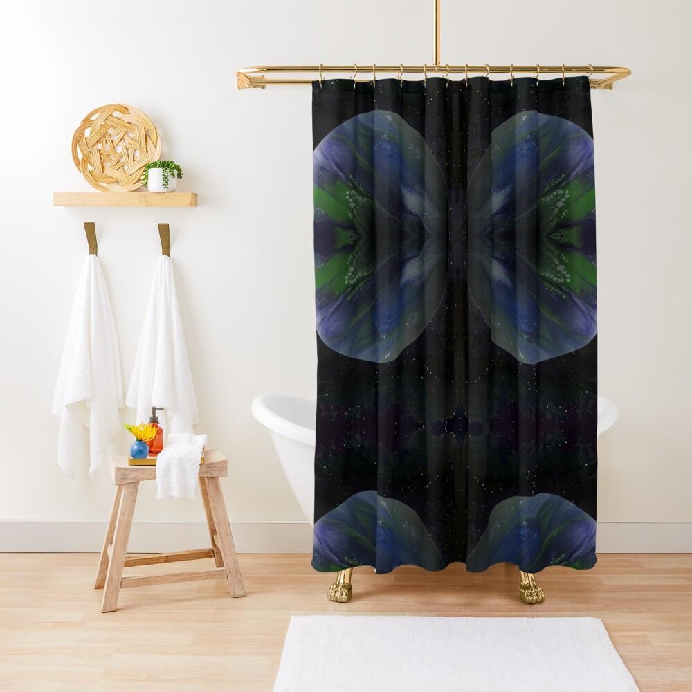 Terra Nova: planet painting Shower Curtain