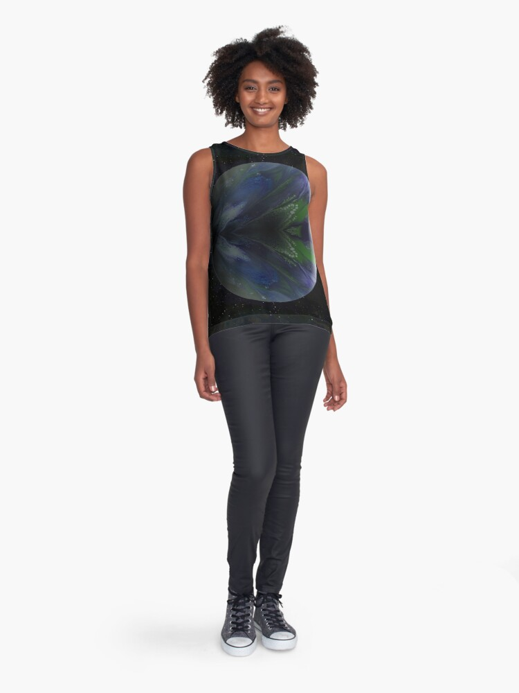 Alternate view of Terra Nova: planet painting Sleeveless Top