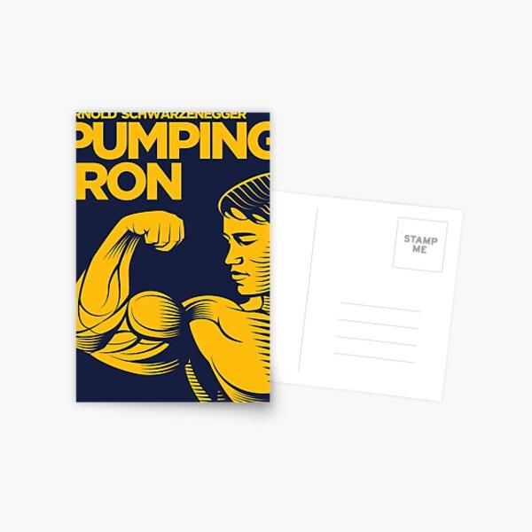 Arnold Schwarzenegger Pumping Iron Bodybuilding Postcard