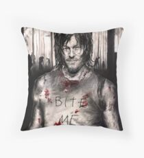 Bite Me Throw Pillow