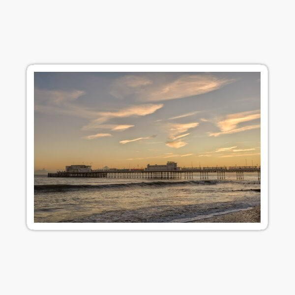 Worthing Pier Evening Sticker