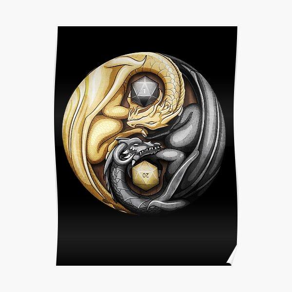 Balanced Dragons D20 Poster