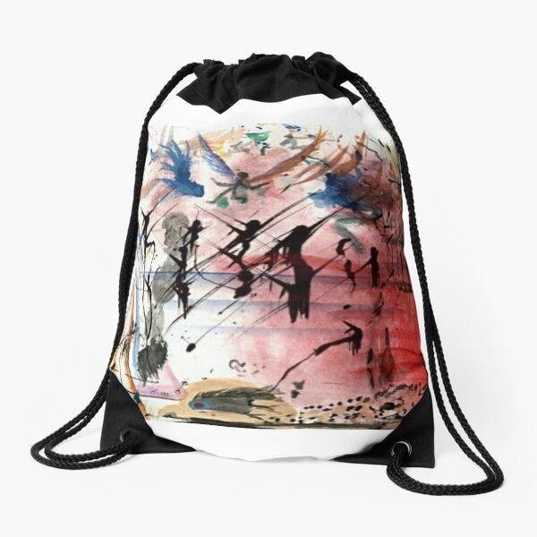 Abstract Sunset Drawstring Bag