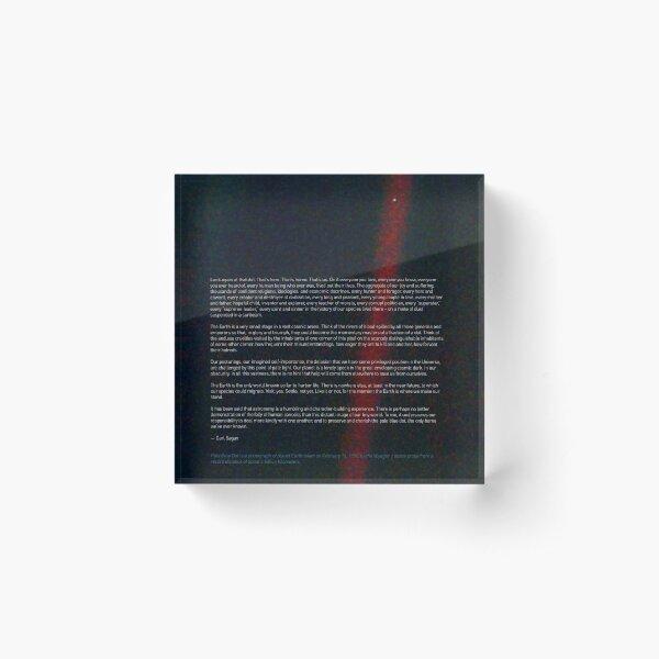 Pale Blue Dot — Voyager 1 & Carl Sagan quote ⛔ HQ-quality Acrylic Block