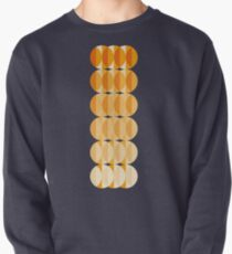 Leaves at autumn - a pattern in orange and brown Pullover Sweatshirt