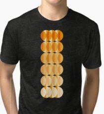 Leaves at autumn - a pattern in orange and brown Tri-blend T-Shirt