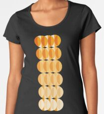 Leaves at autumn - a pattern in orange and brown Premium Scoop T-Shirt