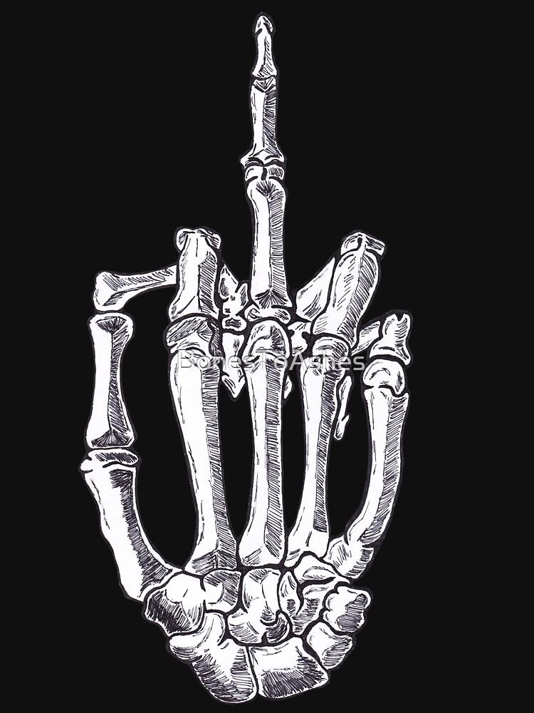 Skeletal Middle Finger by BonesToAshes