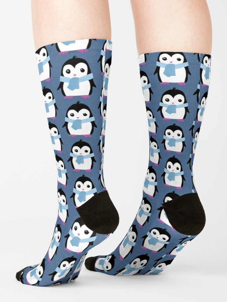 Alternate view of Original Penguin with Scarf illustration  Socks