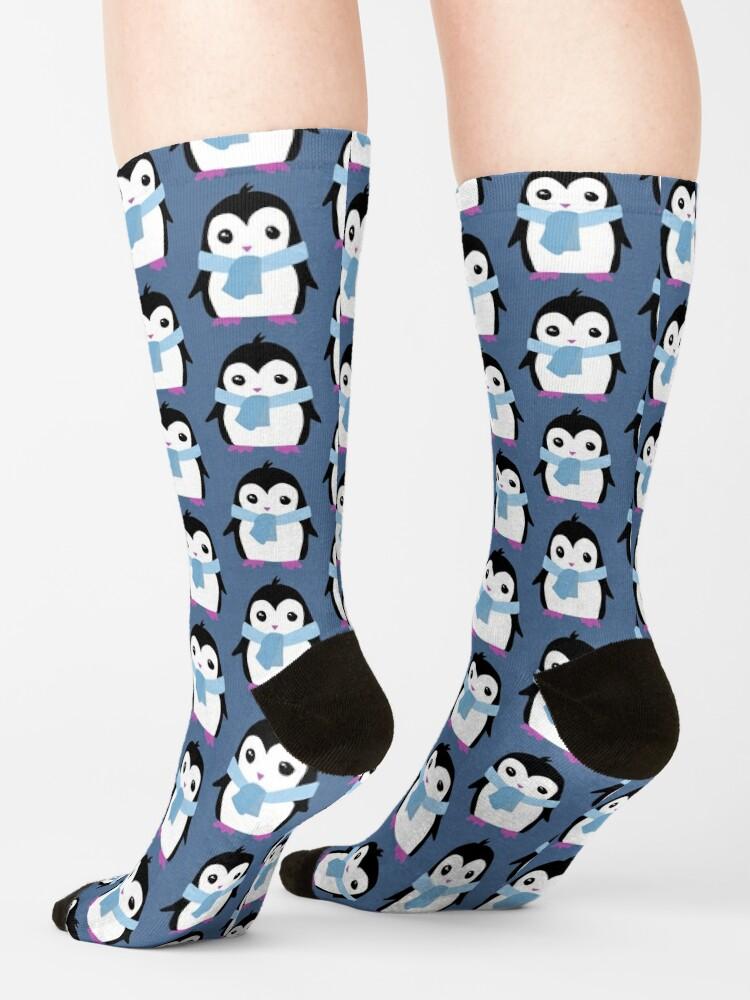 Alternate view of Original Penguin with Scarf illustration  Socks