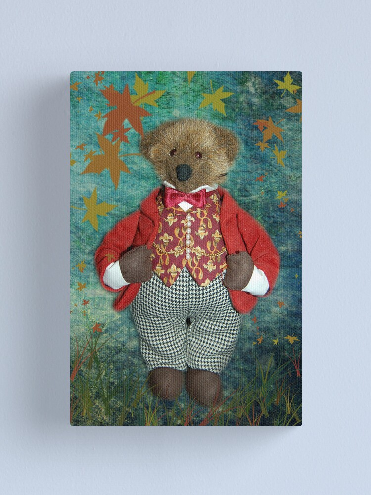 Alternate view of Smart Teddy Canvas Print