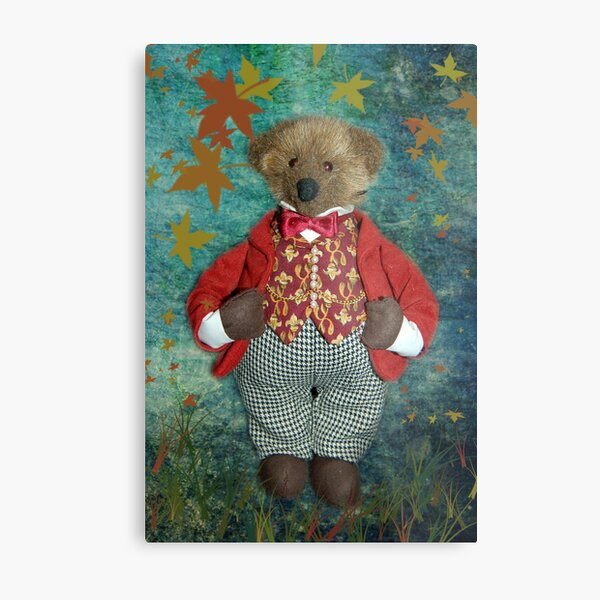 Smart Teddy Metal Print
