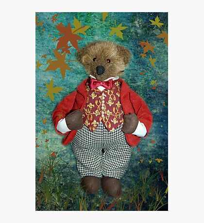 Smart Teddy Photographic Print