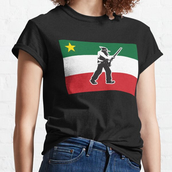 Quebec Patriote Flag Modern Lower Canada Patriot Rebellion 1837 1838 Québec french quebecois canadian WITH STAR AND PATRIOTE HD HIGH QUALITY Classic T-Shirt