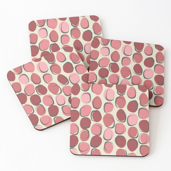 Pretty in Pink Coasters (Set of 4)