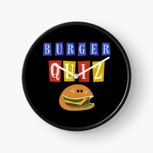 Burger quizz new logo Clock