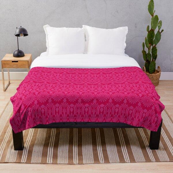 Art Deco in Hot Pink! Throw Blanket