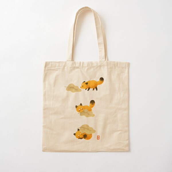Fox and leaf blanket Cotton Tote Bag