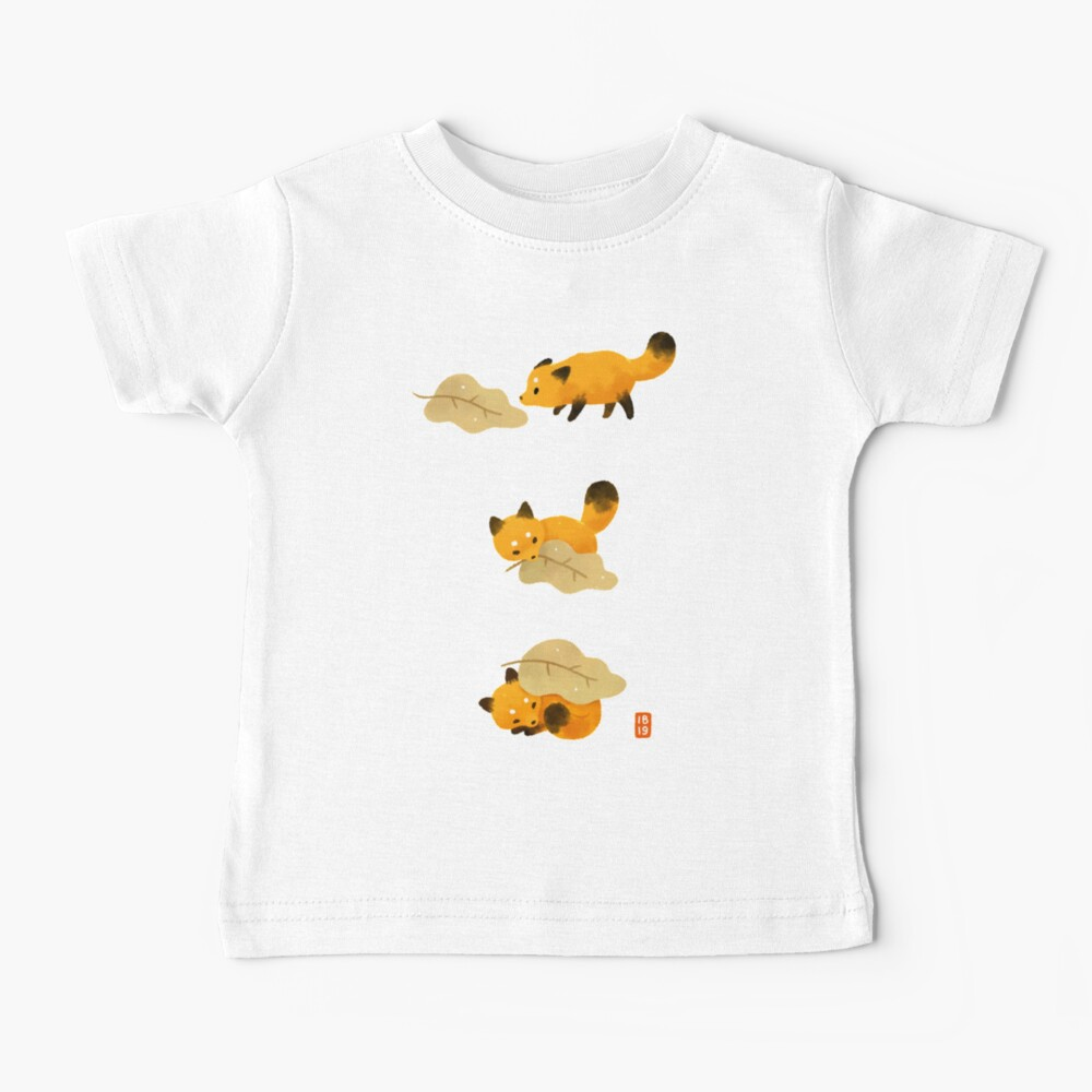 Fox and leaf blanket Baby T-Shirt