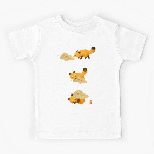 Couverture de renard et feuille T-shirt enfant