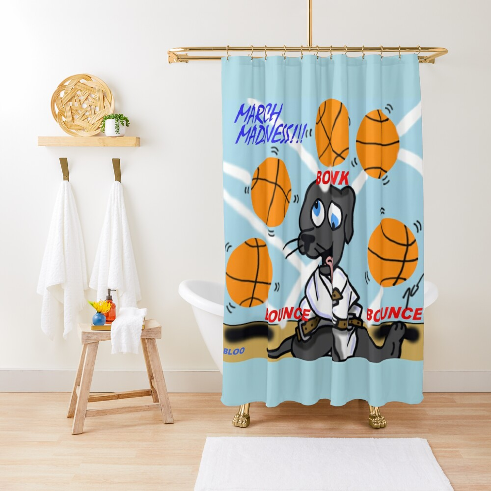 Bloo's March Madness Shower Curtain