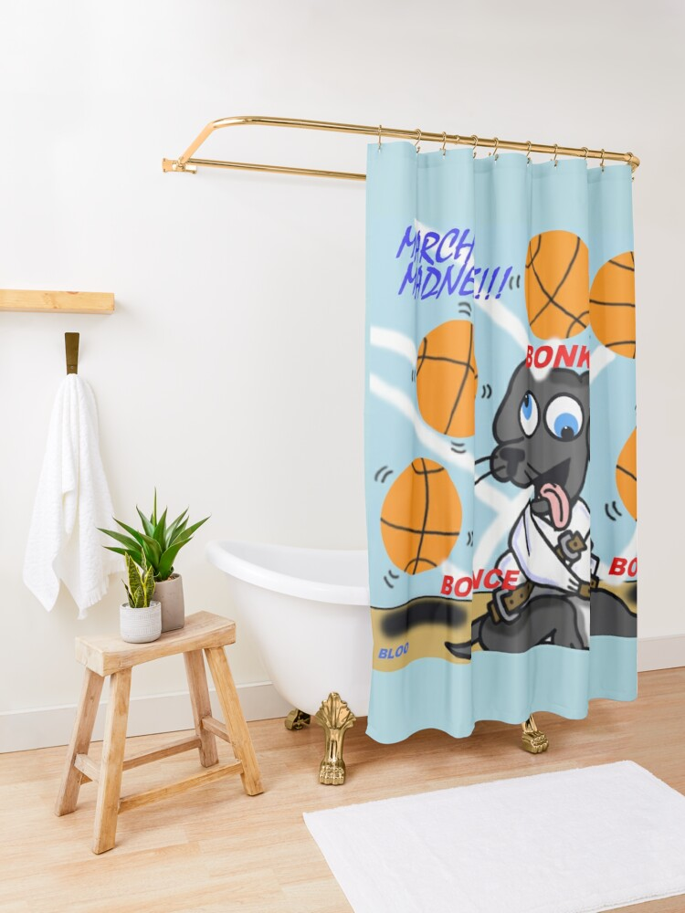 Alternate view of Bloo's March Madness Shower Curtain