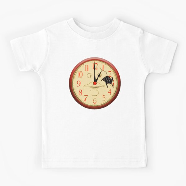 CLOCK NURSERY RHYME. Hickory Dickory Dock. Hickety Dickety Dock. Illustrated by, Denslow. Kids T-Shirt
