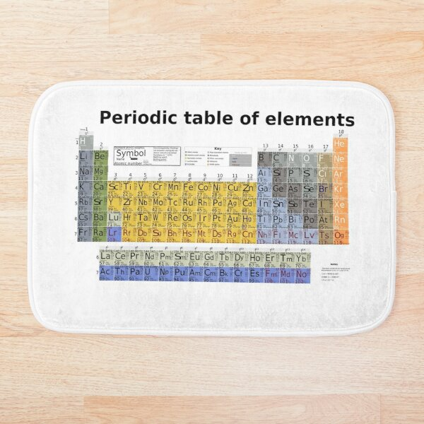 The Periodic table of Elements Bath Mat
