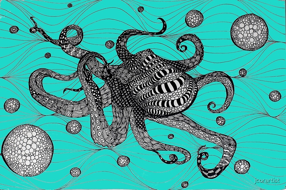 Optical Illusion Octo by jcorartist