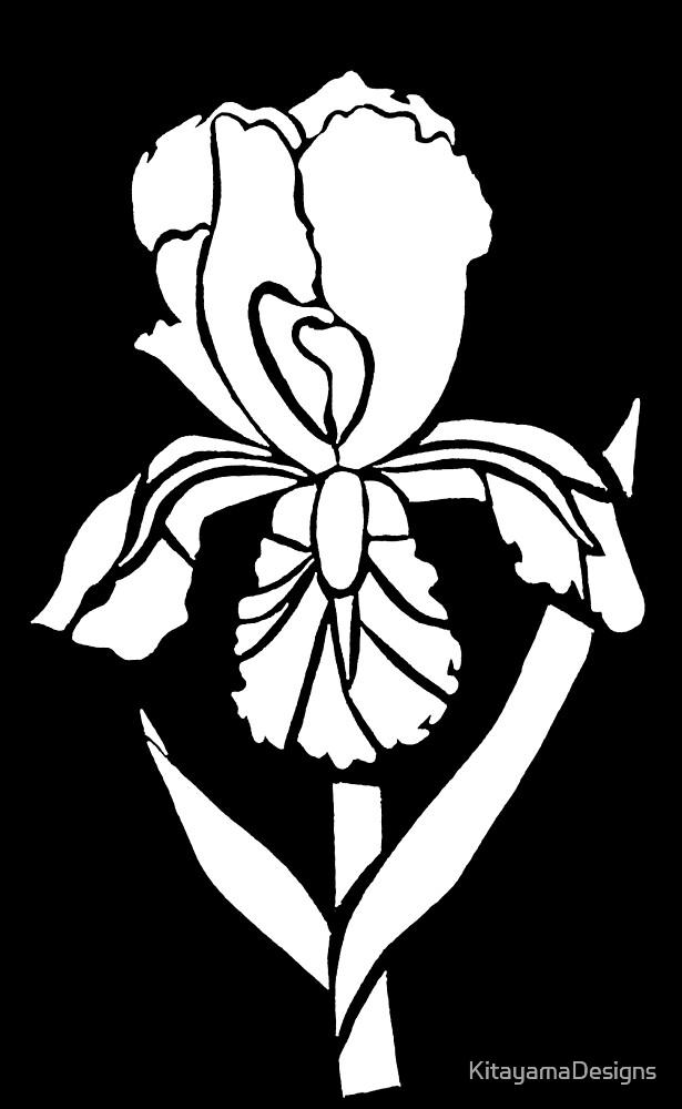 Iris Tribal Design - White  by KitayamaDesigns