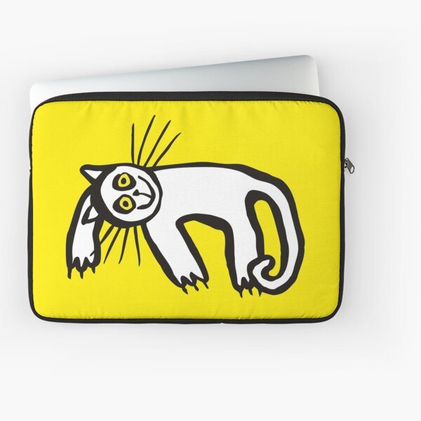Lazy Cat in Yellow+ Laptop Sleeve