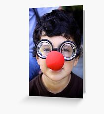 Red nose  Greeting Card