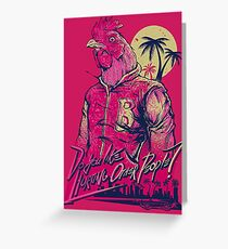 hotline miami richard Greeting Card