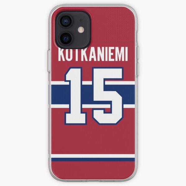 Étui à dos pour téléphone personnel des Canadiens de Montréal Jesperi Kotkaniemi, domicile Coque souple iPhone