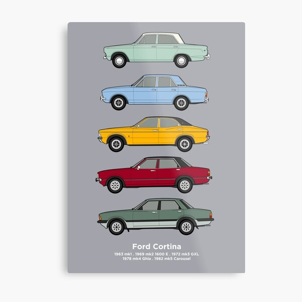 Ford Cortina Classic Car Collection Metal Print