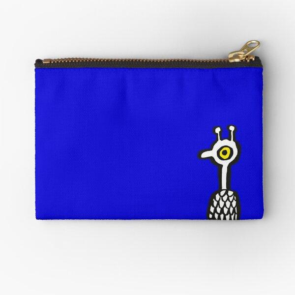 Birdie in Blue Zipper Pouch