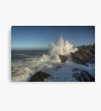 Shore Acres High Surf  Canvas Print