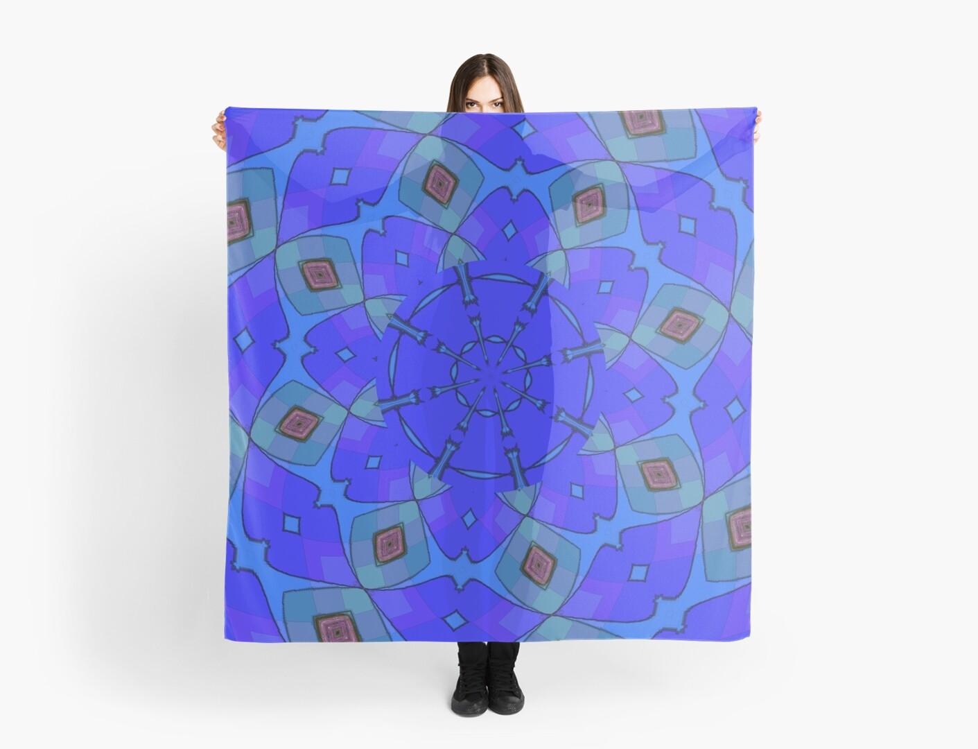 Modern Blue Scarf by Sarah Curtiss