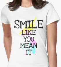 smile like... Womens Fitted T-Shirt