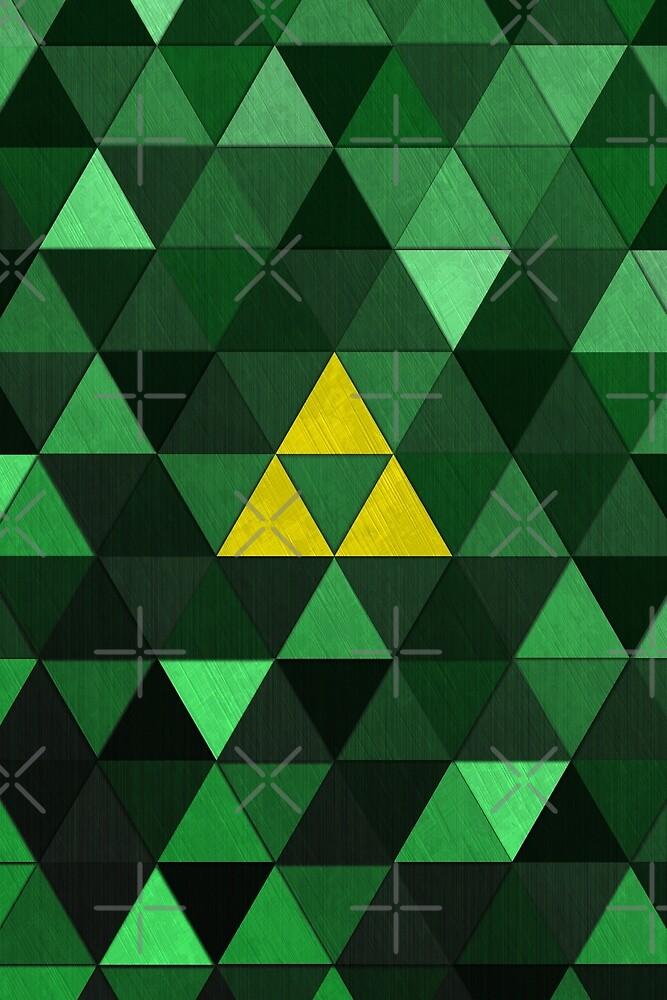 Triforce Quest (Green) by Digital Phoenix Design