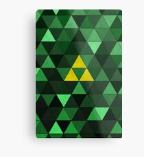 Triforce Quest (Green) Metal Print