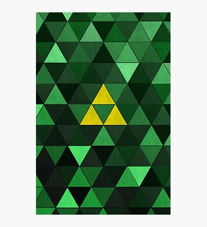 Triforce Quest (Green) Photographic Print