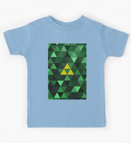 Triforce Quest (Green) Kids Clothes