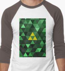 Triforce Quest (Green) Men's Baseball ¾ T-Shirt