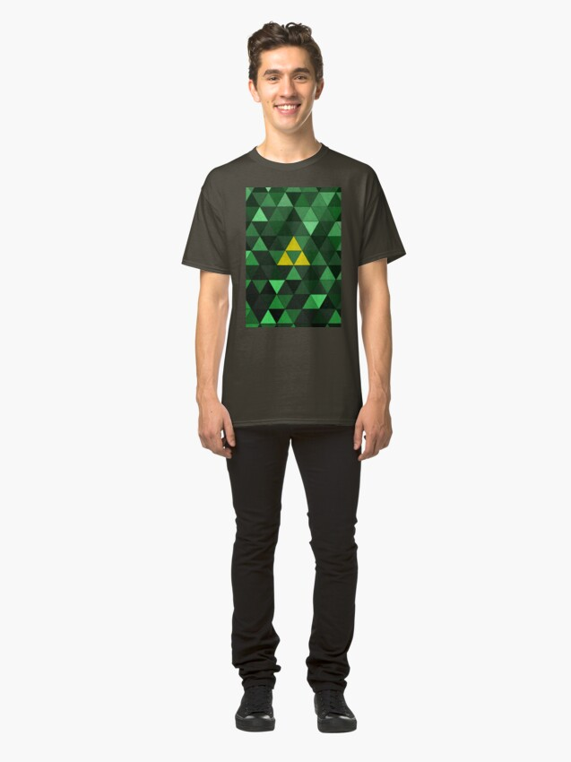 Alternate view of Triforce Quest (Green) Classic T-Shirt
