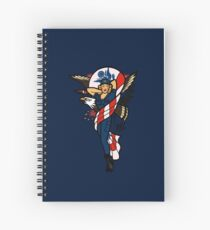 SJ Inspired Coast Guard Pinup No 2 Spiral Notebook