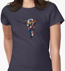 SJ Inspired Coast Guard Pinup No 2 Fitted T-Shirt